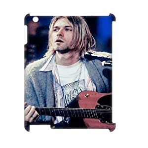 wugdiy DIY 3D Case Cover for iPad2,3,4 with Customized Kurt Cobain