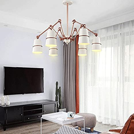 Lámparas de techo modern chandelier, Lighting 6 Black or ...