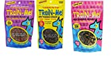 Crazy Dog Train-Me! Training Reward Dog Treats 3 Flavor Variety Bundle: (1) Train-Me! Bacon Flavor, (1) Train-Me! Chicken Flavor, and (1) Train-Me! Beef Flavor, 4 Oz. Ea. (3 Bags Total) For Sale