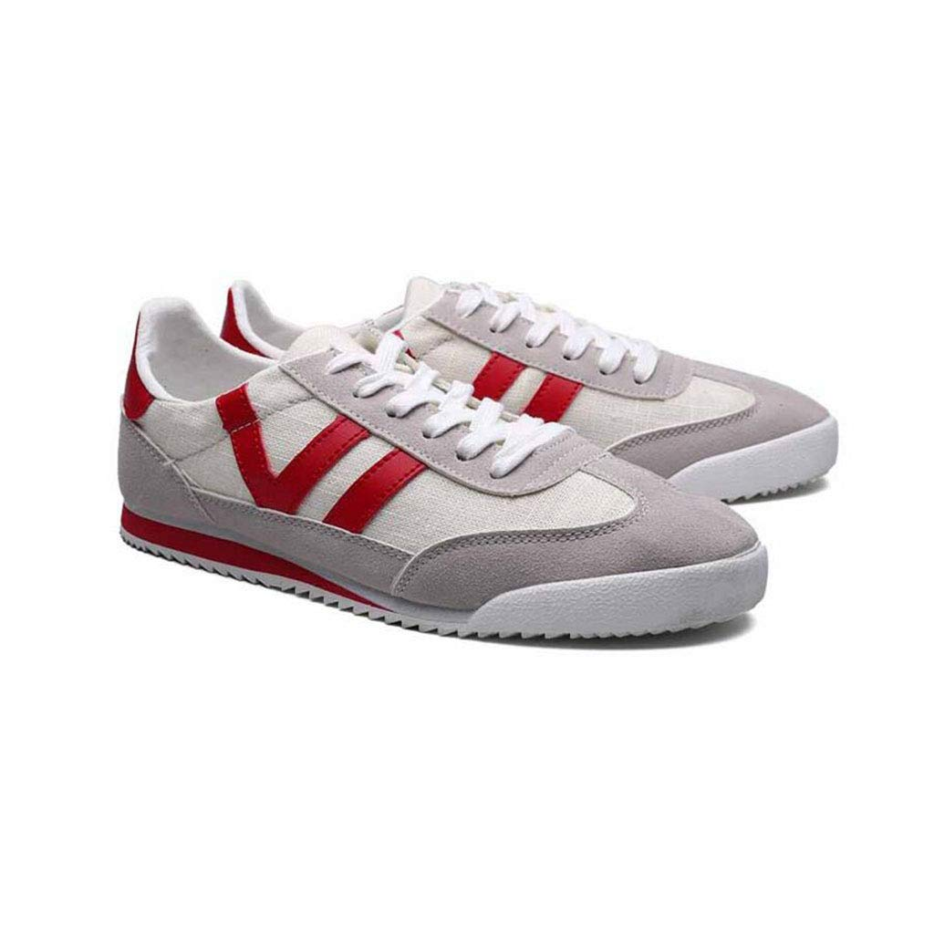 YIWU Beiläufige Schuhe Der Männer Breathable Sport-laufende Turnschuhe Für Mann-Jungen Turnschuhe (Farbe   rot, Größe   EU41 UK7.5-8 CN42)