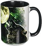 wolf coffee mug - The Mountain 57205309001 Three Wolf Moon Coffee Mug, 15 oz, Black