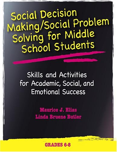 Read Online Social Decision Making/Social Problem Solving For Middle School Students: Skills And Activities For Academic, Social And Emotional Success (Book and CD) pdf epub