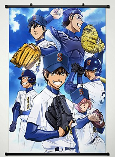 Scroll Diamond Key - Ace of Diamond Wall Scroll Poster Fabric Painting Anime Key Roles 003 L