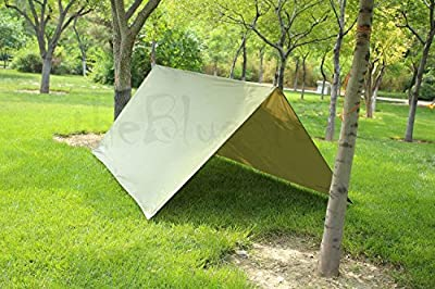 UNAKIM-3m x 3m Waterproof Tarp for Shelter Survival Backpacking Camping Outdoor Tent