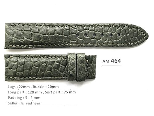 Grey Alligator Strap - 8