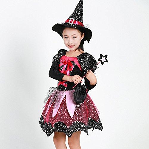 vestito Bambino amp; di Costume BYSTE Mago cappello magico costume Costume per Halloween 4 Wizard strega Halloween Bambina da PHHwxCtf