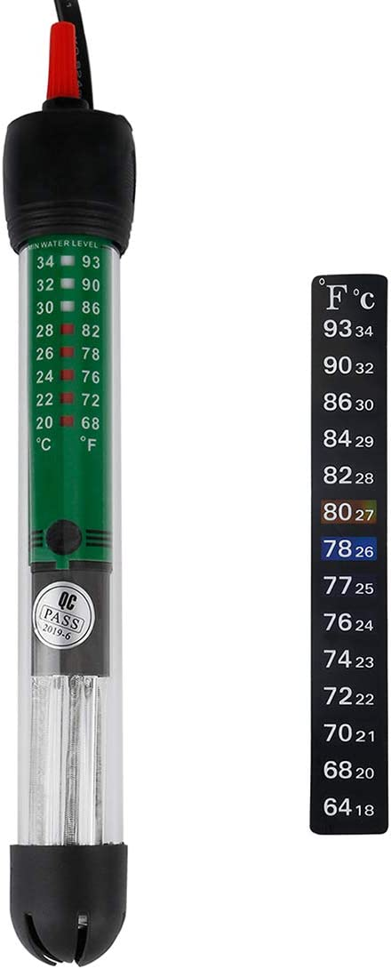Uniclife 25 W Submersible Aquarium Heater HT-6025 with Thermometer for 5 Gallon Fish Tank