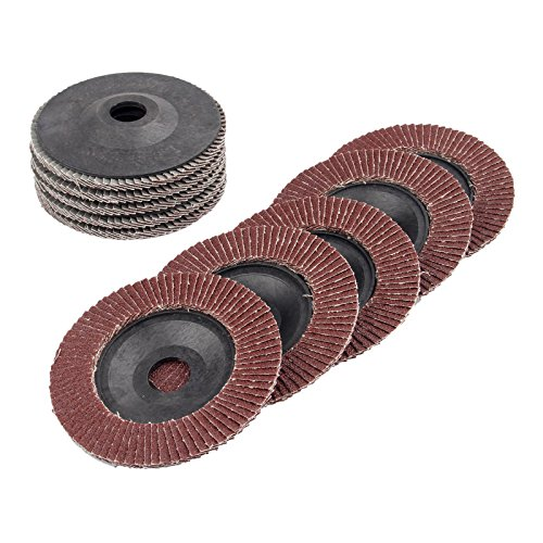 Dophee 10Pcs 4'' 125mm 60# Grit Polishing Buffing Pad Grinder Flap Sanding Disc Grinding Wheel by dophee (Image #1)