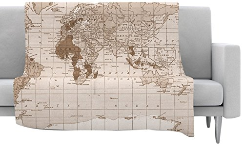 Amazon kess inhouse catherine holcombe emerald world fleece amazon kess inhouse catherine holcombe emerald world fleece throw blanket 80 by 60 inch vintage map home kitchen gumiabroncs Image collections