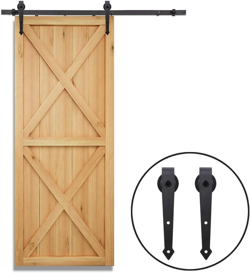 CCJH 4FT//122CM Herraje para Puerta Corredera Kit de Accesorios para Puertas Correderas Juego de Piezas,Forma Flecha