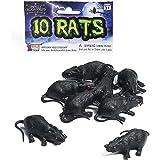 Forum Novelties Plastic Rats (Set of 10-2 1/2 Size)