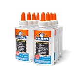 Elmer's Liquid School Glue, Clear, Washable, 5 Ounces, 8 Count - Great for Making Slime