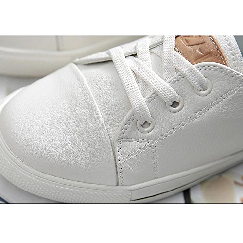 HAIZHEN Booties Spring 18 White 40 Years Old Girls For Sneakers BOOTS up Fall old Walking For Years Outdoor Women's Comfort Casual Platform Ladies Shoes Lace 18 40 qt0Bnd