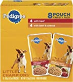 Pedigree Meaty Ground Dinner with Beef Combo Pack Food for Dogs, 5.3-Ounce Pouches (Pack of 32), My Pet Supplies