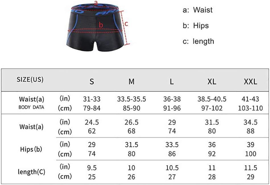 Pantalones Cortos de Ciclismo para Hombres Ropa Interior de Ciclismo de Gel Acolchado 5D Ropa de Bicicleta de monta/ña Transpirable Ciclismo de monta/ña Pantalones Cortos de Ciclismo