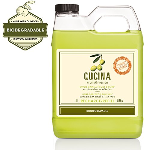 Cucina Coriander and Olive Tree 33.8 oz Purifying Hand Wash Refill (Hand Purifying Wash Cucina)