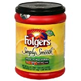 Folger's Simply Smooth Ground Coffee, 11.5 Oz. Plastic Canister