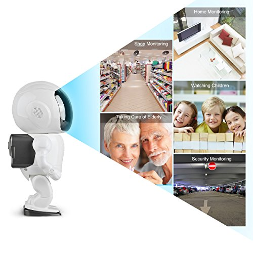 HD Wireless Robot IP Camera,FEISIER 960P Security Camera 1.3MP CMOS Baby Monitor Pan Tilt Remote Home Security P2P IR Night Vision for Mobile Android/iOS and Laptop (White) by FEISIER (Image #3)