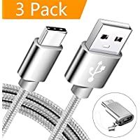 USB Type C Cable, MARGE PLUS USB C Cable 3 Pack(6ft)...