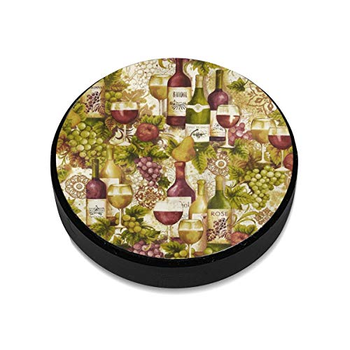 Vineyard Collection Wine Bottles Merlot Magnetic Car Mount Universal Flat Stick-on Dashboard ()