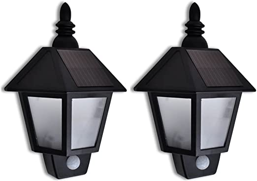 Festnight 2 Apliques de Exterior solares con Detector de Movimiento farolas Jardin, inoxidables: Amazon.es: Hogar