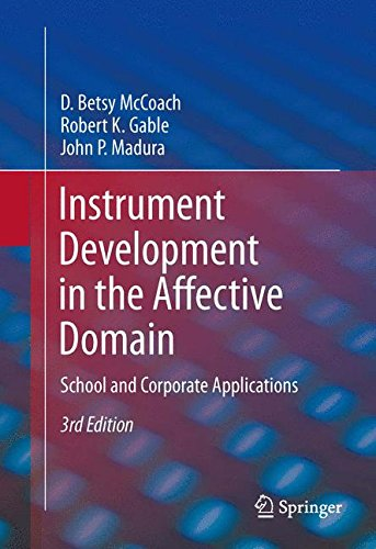 Instrument Development in the Affective Domain: School and Corporate - In Domain Stores