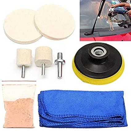 7pcs Glass Scratch Remover 70g Cerium Oxide Polishing Kit 2 Inch Wheel+wool Felt Polishing Buffing Wheel Grinding Pad Back To Search Resultstools