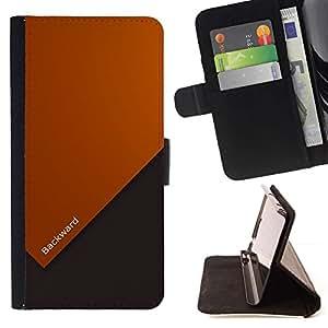 Momo Phone Case / Flip Funda de Cuero Case Cover - Cita Vida motivación Forward Slogan Arte - Sony Xperia Z5 5.2 Inch (Not for Z5 Premium 5.5 Inch)