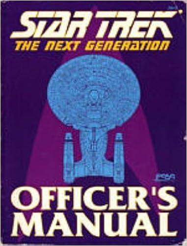 Book Star Trek: The Next Generation: Officer's Manual by Rick Stuart (1988-09-02)