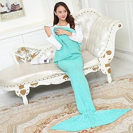 La Sirenita manta manta polar coral niño cola de sirena sirena mantas childrens princess tejer ,