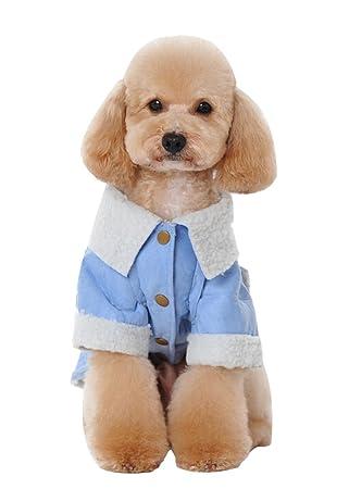 VIVI oso perro cálido abrigo dos agujeros de pierna cachorro chaqueta de lana chaqueta de protección