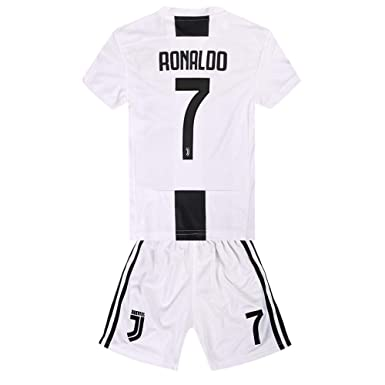 brand new 25981 63781 Yisixi Cristiano Ronaldo 7 Juventus Home 2018/2019 Kids/Youth Soccer Jersey  Color White