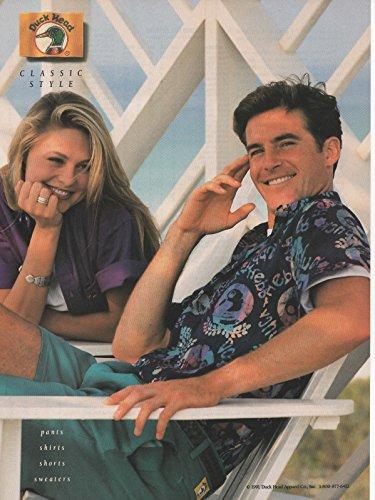 """Magazine Print Ad: 1991 Duck Head Brand Apparel, Porch scene, """"Classic Style"""""""