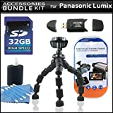 Accessory Kit For The Panasonic Lumix DMC-LX5 Digital Camera Includes 32GB High Speed SD Memory Card + High Speed 2.0 USB SD Card Reader + Gripster Tripod + LCD Clear Screen Protectors + More
