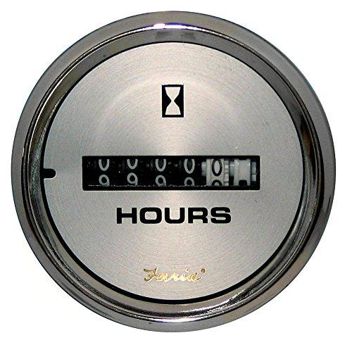 Faria Kronos 2″ Hourmeter (10,000 Hrs) (12-32 VDC)
