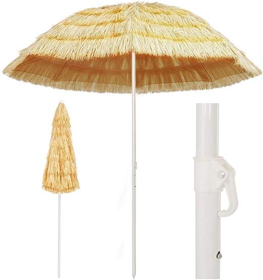 Wakects - Sombrilla de Playa en Estilo Hawaiano, sombrilla Parasol de jardín Grande de Exterior, para balcón, terraza, Exterior, jardín y Playa: Amazon.es: Jardín
