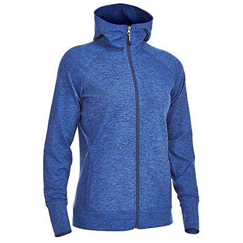 Transition Full Zip Hoody - Eastern Mountain Sports EMS Women's Techwick Transition Full-Zip Hoodie Mazarine Blue Htr XL