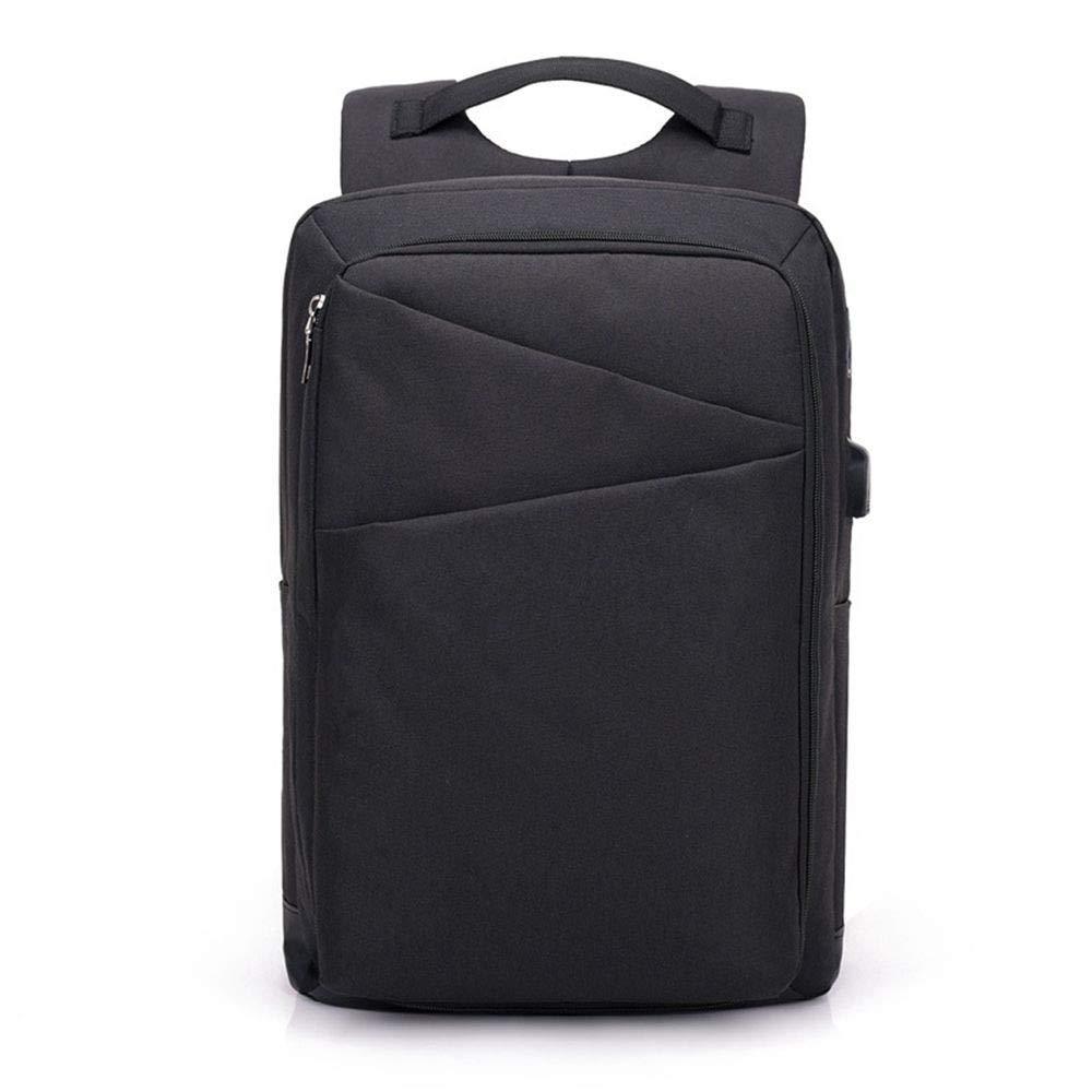 DYR Business Computer Bag Casual Backpack Men and Women USB Charging Backpack AntiTheft Bag Outdoor Travel Bag Shoulder Bag, Black, 15.6 Inch