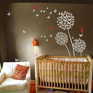 Calcoman a decorativo para pared decoraci n floral diente - Amazon decoracion pared ...