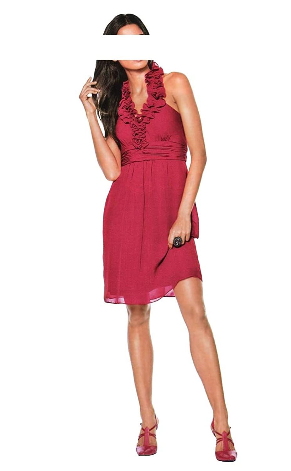 Ashley Brooke event Women's Cocktail Opaque Dress Red Red