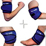 Ezy Compress Wrap For Ankle / Elbow / Knee / Arm, Use Cuff with Hot Cold Gel Ice Pack (1x Ezy-Compress Wrap)