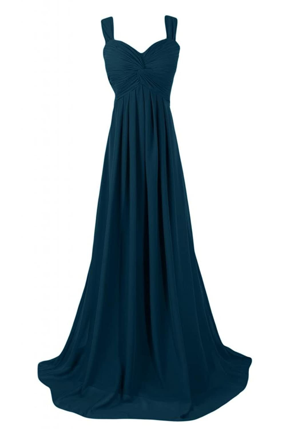Sunvary Graceful Empire Style Bridesmaid Dress Maxi Party Dresses for Women Pageant Gowns