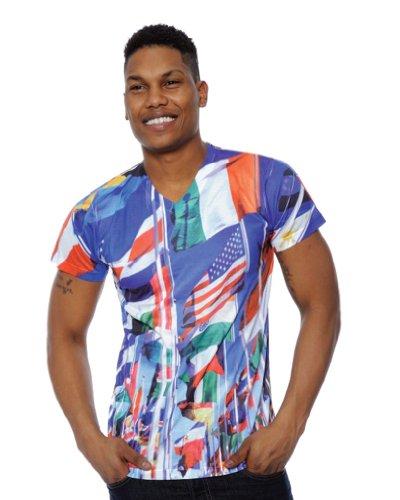 Simplicity Guys International World Cup Patriotic Nations Flag Printed Tee Shirt