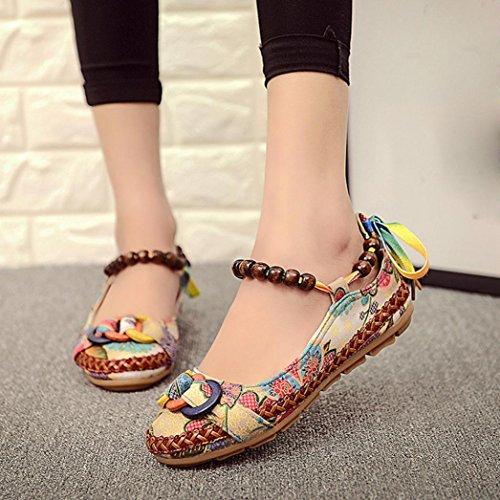 c412e3b2 El servicio durable ZARLLE Sandalias Bohemias, Zapatos Planos CóModos Mujer  Primavera Verano Bohemia Sandalias Zapatos