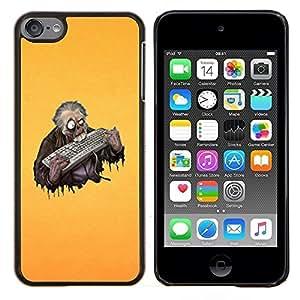 """Be-Star Único Patrón Plástico Duro Fundas Cover Cubre Hard Case Cover Para iPod Touch 6 ( Zombi divertido del teclado"""" )"""