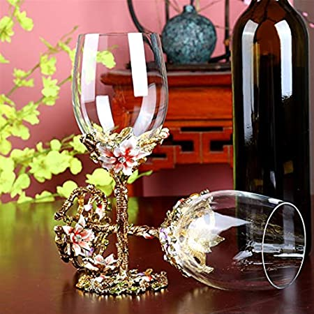 Mdjywl Gafas Rojas, Conjunto de Regalo de Vino, Regalos de Vino Embalaje de Caja, Copa de Vino de Cristal Premium para vinos Blancos o Rojos para casa (Size : 4 Pieces)