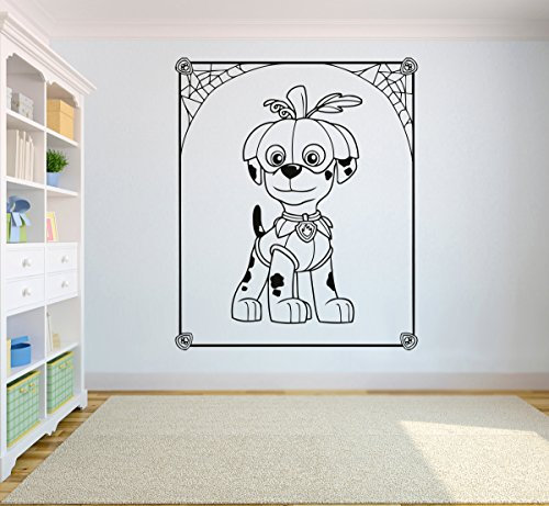 Halloween Marshall Sticker Paw Patrol Wall Vinyl Decal Home Interior ART Kid Room Graphic Design paw29 ()