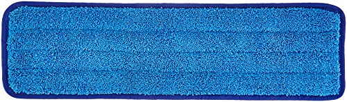 AmazonBasics Microfiber Damp Mop Cleaning Pad, Plain, 18 Inch, 12-Pack