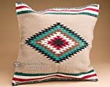 Mission Del Rey Southwest Hand Woven Wool Pillow Cover 20''x20'' (pc3a)