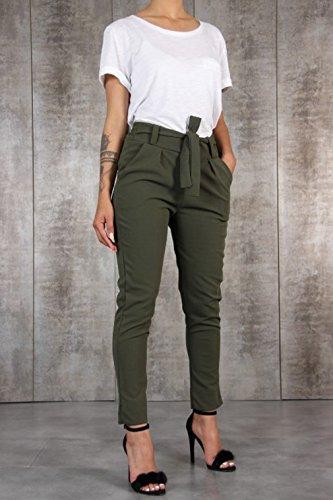 Longs Pantalon Vert Moyenne avec Confortable Leggings Slim Pantalons Taille lastique Pantalons Casual Poches Fit Femme Mode Taille q0txHpwnT